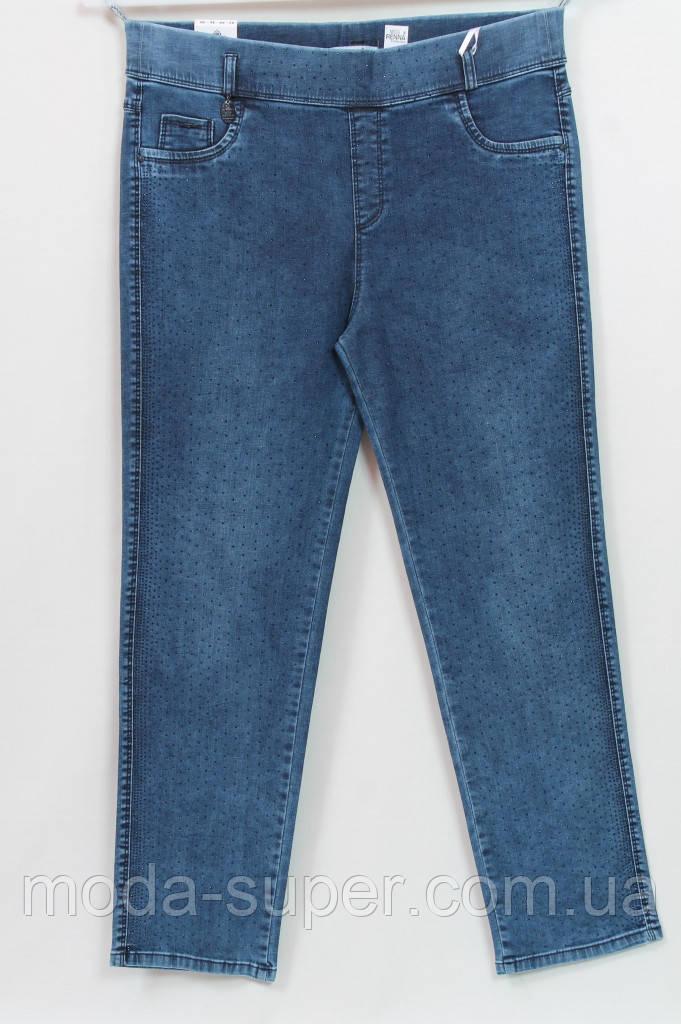 Турецкие джинсы с  мелкими стразами, рр 48-62