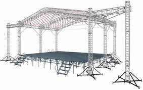 Сцена, подиум, аренда сценических конструкций
