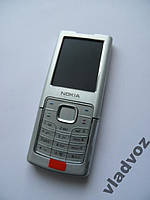 Корпус Nokia 6500c silver серебро + клавиатура ААА