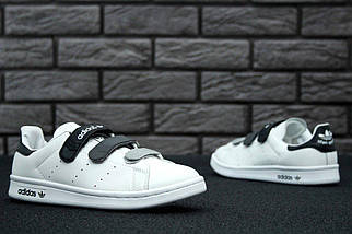 Женские кроссовки в стиле Adidas Stan Smith CF White/Black, фото 3