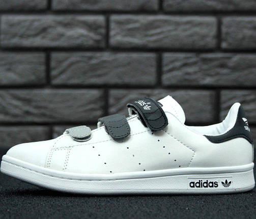 Женские кроссовки в стиле Adidas Stan Smith CF White/Black, фото 2