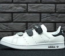 Женские кроссовки в стиле Adidas Stan Smith CF White/Black