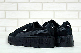 d23c4962ffa694 Женские кроссовки Puma Rihanna Fenty Suede Cleated Creeper Black, фото 2