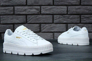 Женские кроссовки Puma Rihanna Fenty Suede Cleated Creeper White, фото 3