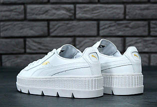 Женские кроссовки Puma Rihanna Fenty Suede Cleated Creeper White, фото 2