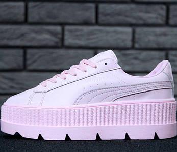 Женские кроссовки в стиле Puma Rihanna Fenty Suede Cleated Creeper Pink