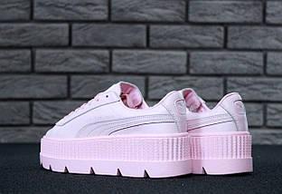 Женские кроссовки Puma Rihanna Fenty Suede Cleated Creeper Pink (38 и 39 размеры!), фото 2