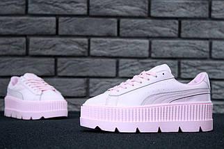 Женские кроссовки Puma Rihanna Fenty Suede Cleated Creeper Pink (38 и 39 размеры!), фото 3