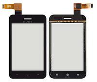 Сенсорный экран Sony Xperia Tipo ST21i черный (тачскрин, стекло в сборе)