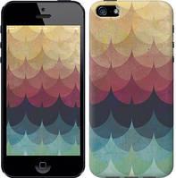 """Чехол на iPhone 5s Текстурные волны """"4169c-21-328"""""""