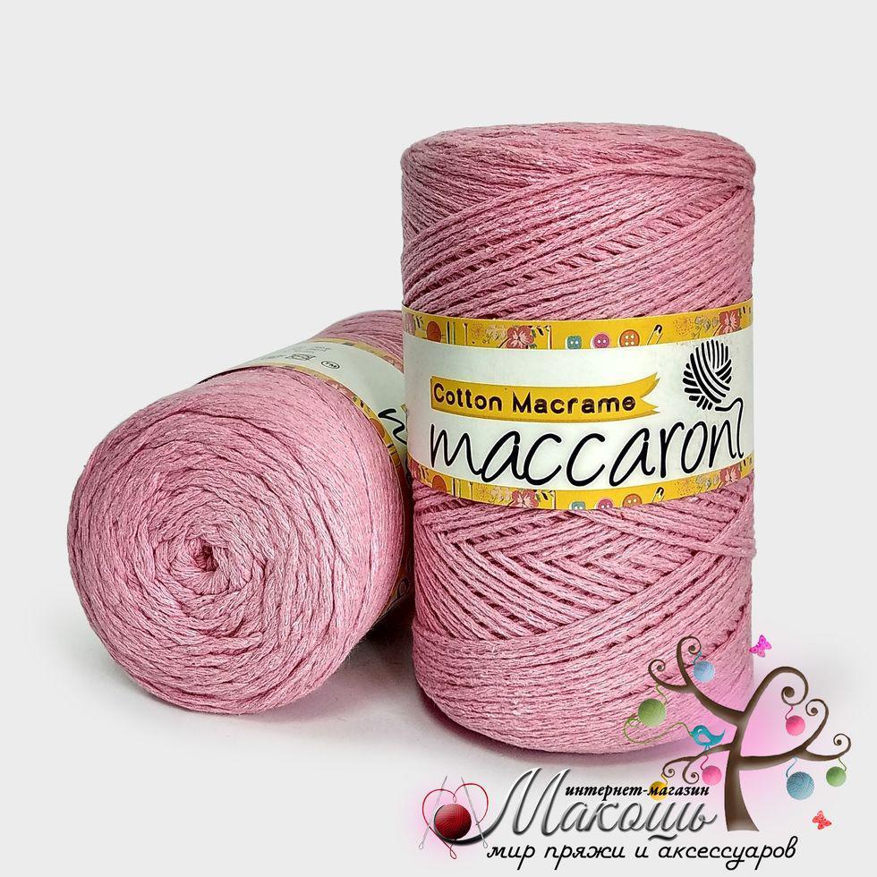 Пряжа Maccaroni Cotton Macrame Коттон Макраме, №223, св. розовый