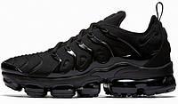 "Мужские кроссовки Nike Air VaporMax Plus ""Triple Black"" (Топ реплика ААА+)"