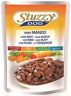 1033300 Stuzzy Dog Beef Говядина в соусе для собак, 100 гр