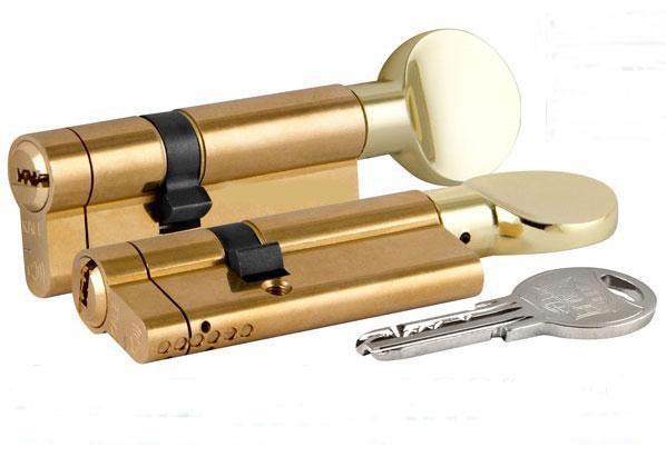 Циліндр KALE 164 ASM з сигналом тривоги (40+10+40:90mm) , латунь, 5 ключів, з вертушком