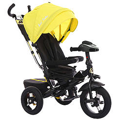 Bелосипед трехколесный Best Trike 6088 F - 2010 с надувными колесами Желтый 65683