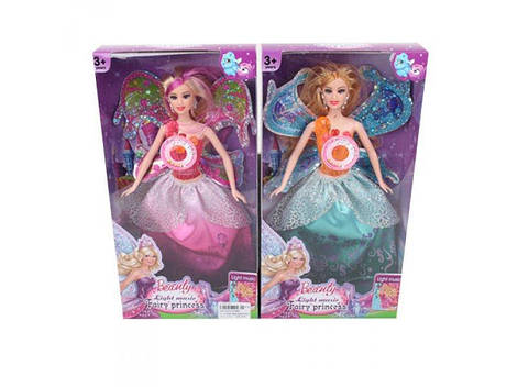Кукла фея, 29 см, музыка, свет, 2 вида, D188A