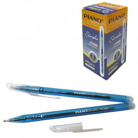 Ручка шариковая Piano Simple синяя, 50шт/упак.,  РТ-1155