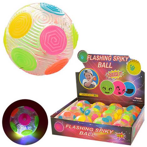 Мяч детский 7,5см, пищалка, свет, MS1145