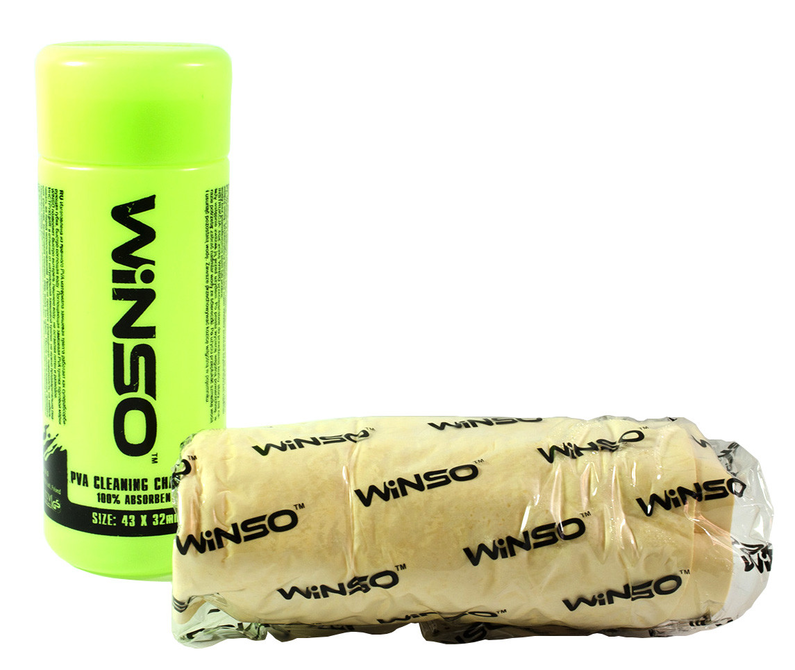 Прорезиненная тряпка для мытья автомобиля Winso 43Х32см