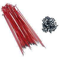Спица Primo Forged (29-630) 182мм, 50шт, black nipples, красные