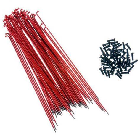Спица Primo Forged (29-630) 182мм, 50шт, black nipples, красные, фото 2