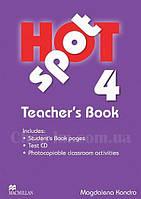 Hot Spot 4 Teacher's Book + Test CD (книга для учителя)