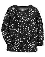 Реглан черный Звезды OshKosh, размер 3Т, 5Т