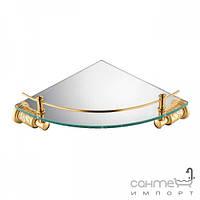 Стеклянная полочка угловая Yatin Carving Gold 7065048VF