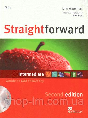 Straightforward Second Edition Intermediate Workbook + CD with Key (тетрадь с ответами и диском)