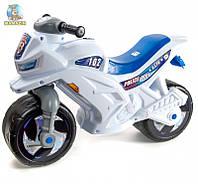 Каталка Мотоцикл детский 2-х колесный, белый