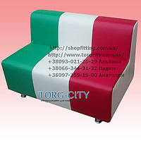 Диван -100х65х70 дешевый кожзам, на хром ногах(под заказ)