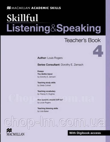 Skillful Listening and Speaking Level 4 Teacher's Book + Digibook (Книга для учителя + цифровая версия, C1)