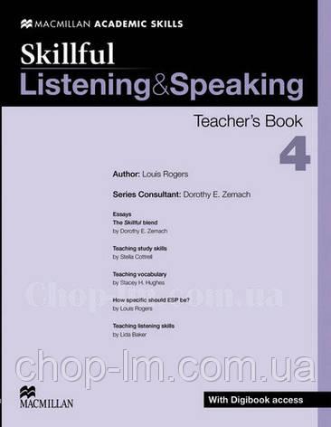 Skillful Listening and Speaking Level 4 Teacher's Book + Digibook (Книга для учителя + цифровая версия, C1), фото 2