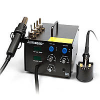 Термовоздушная паяльная станция Lukey 852D+ компрессорная (фен и паяльник)