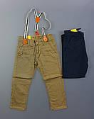 Котоновые брюки для мальчиков S&D оптом, 4-12 лет.