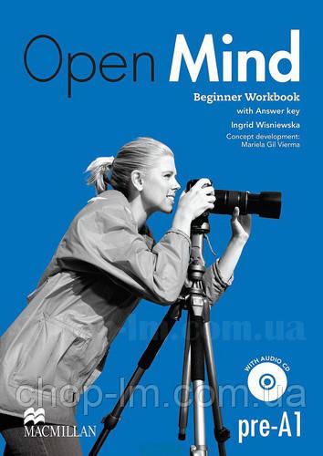 Open Mind Beginner Workbook with CD and Key (рабочая тетрадь с диском и ключами/ответами, уровень pre-A1)