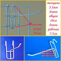 Крючок 10 см, металлопластик (уп.10 шт) прут-3.3 мм, китай