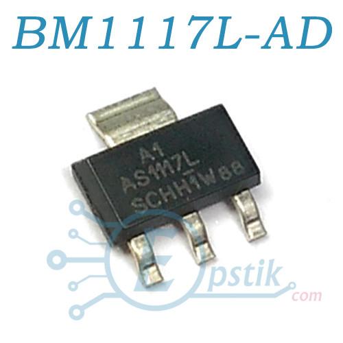 BM1117L-ADJ, Регульований стабілізатор напруги 800мА, SOT223