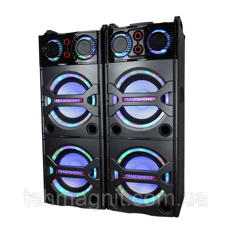 Колонки профессиональные TEMEISHENG T 246 концертные колонки с радиомикрофонами/USB/Bluetooth ( Реплика )