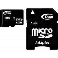 Карта памяти Team microSDHC 8 GB Card Class 10 + SD adapter