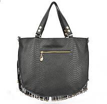 Велика жіноча сумка з бахромою, фото 3