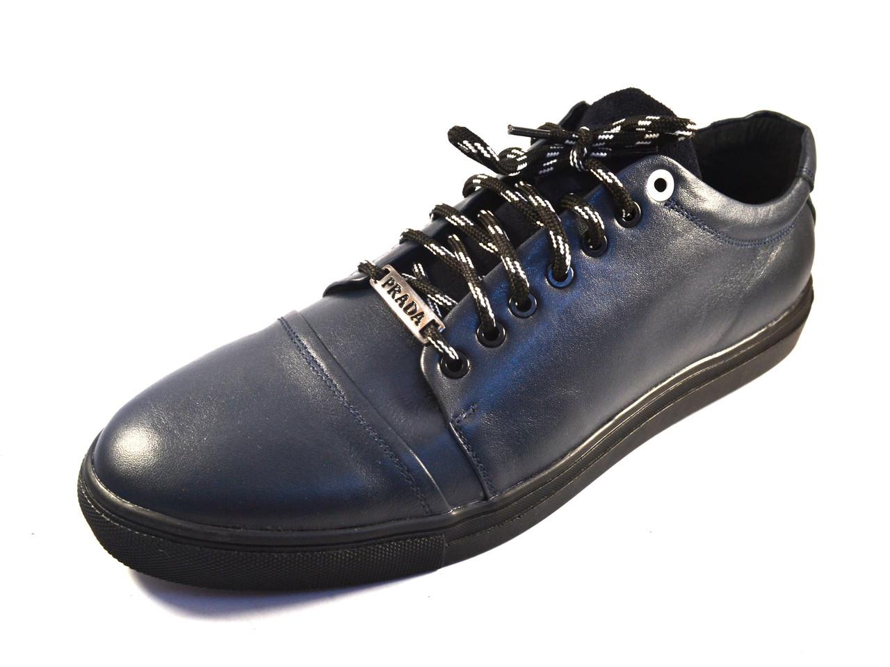 25ed690e Кожаные кроссовки мужские кеды синие Rosso Avangard Gushe Blu , фото 2 ...