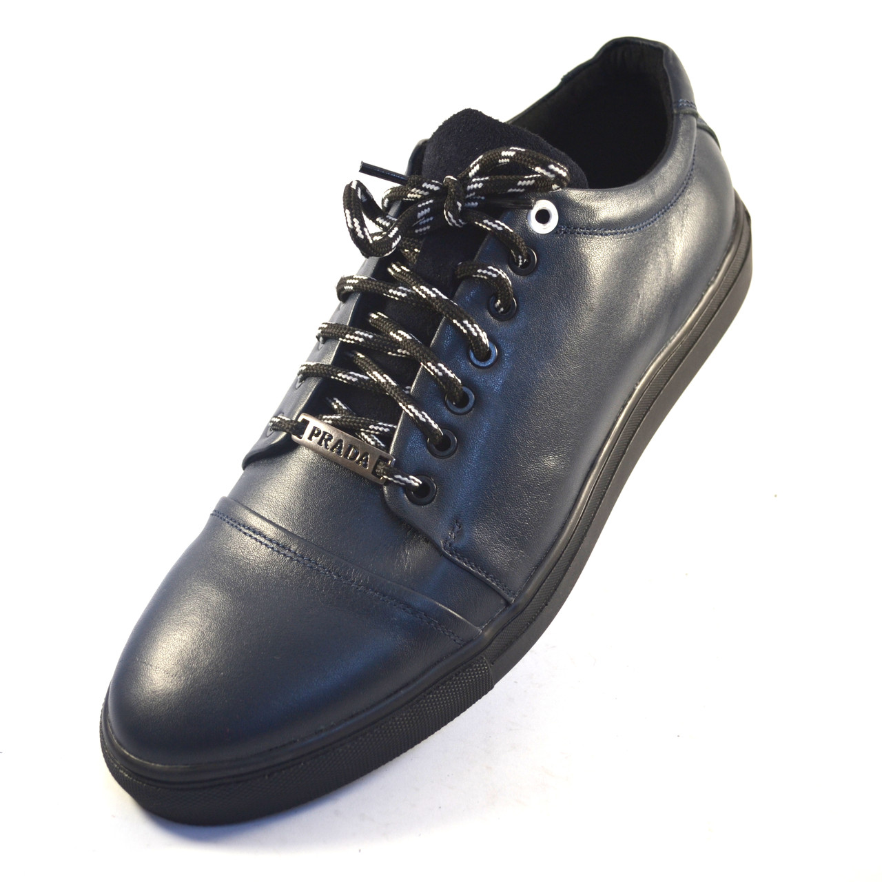 Кожаные кроссовки мужские кеды синие Rosso Avangard Gushe Blu