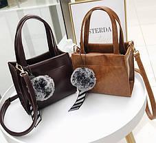 Милі жіночі сумочки з помпоном і краваткою, фото 2