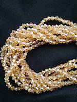 Бусины биконус (Bicone) 4 мм Gold Shampagne AB. Цена за 115 шт