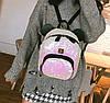 Городской рюкзак с пайетками и ушками медвежонка, фото 4