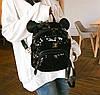 Городской рюкзак с пайетками и ушками медвежонка, фото 5