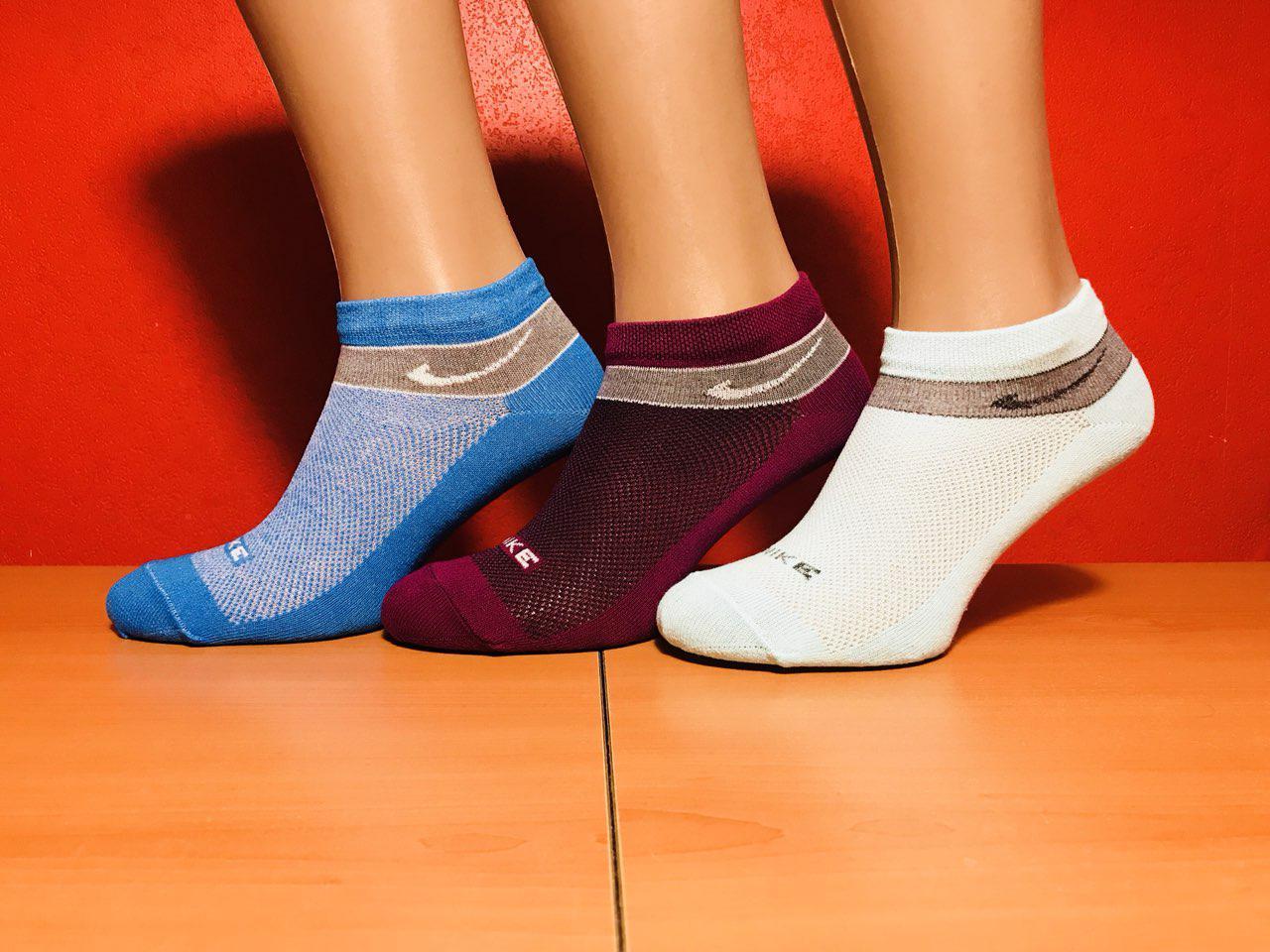 Носки спортивные укороченные летние сетка Nike размер 36-40 ассорти