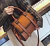 Элегантная женская сумка делового стиля под замш, фото 4