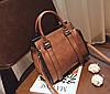 Элегантная женская сумка делового стиля под замш, фото 5